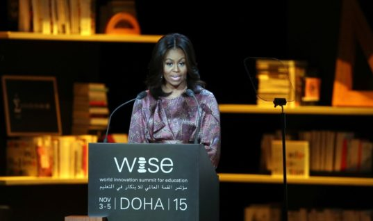 The First Lady's Addresses The World Innovation Summit for Education in Qatar.