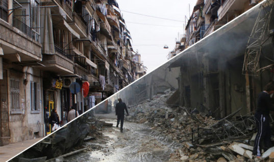 Inside Aleppo: Before and After Comparisons Amidst the Bloodshed of Civil War