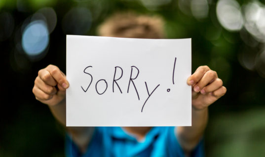 I'm Sorry, but We Need to Quit Apologizing All the Time
