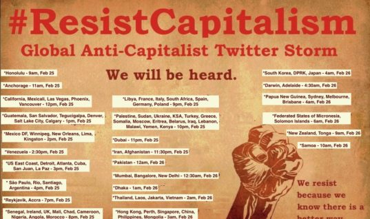 #ResistCapitalism: The Global Anti-Capitalist Twitter Storm Fueled by Thousands