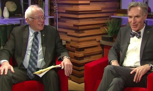 Bill Nye the Science Guy and Bernie Sanders Team Up to Discuss and Inform the Public of Climate Change