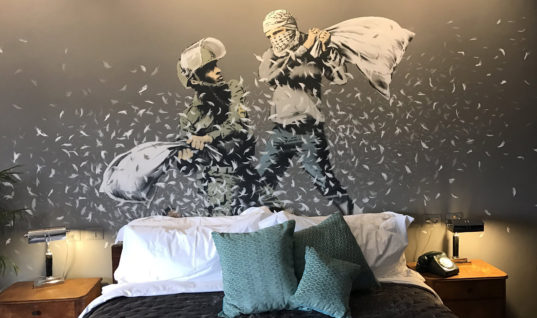 Banksy Strikes Again With a 3 Story Lodging's Worth of Art