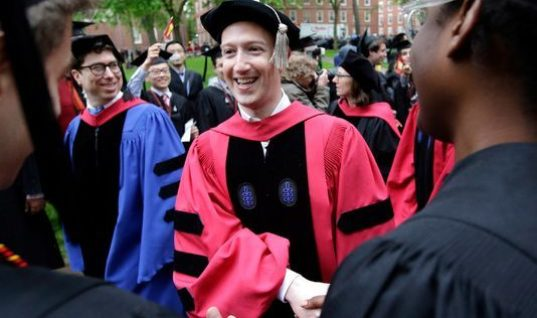Mark Zuckerberg's Harvard Commencement Speech Addressed Inequality at a New Level