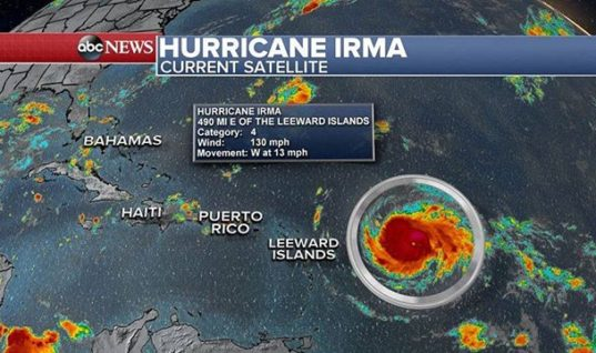 Hurricane Irma Begins Her Path of Destruction